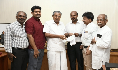 Tao Contribution handed over to Kerala CM towards Kerala Distress Relief Fund.